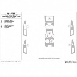 Накладки салона под дерево, карбон, алюминий для Ford Fusion 2013-UP. Комплект L2078.