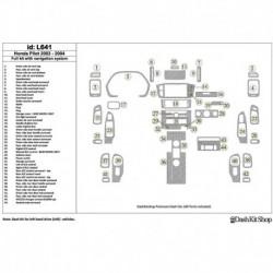 Накладки салона под дерево, карбон, алюминий для Honda Pilot 2003-2004. Комплект L641.