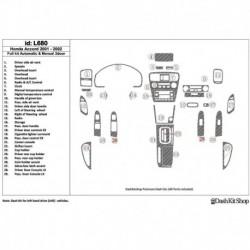 Накладки салона под дерево, карбон, алюминий для Honda Accord 2001-2002. Комплект L680.