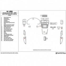 Накладки салона под дерево, карбон, алюминий для Honda Accord 2001-2002. Комплект L684.