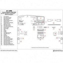 Накладки салона под дерево, карбон, алюминий для Honda Ridgeline 2006-2008. Комплект L696.