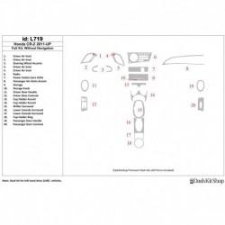 Накладки салона под дерево, карбон, алюминий для Honda CR-Z 2011-UP. Комплект L719.