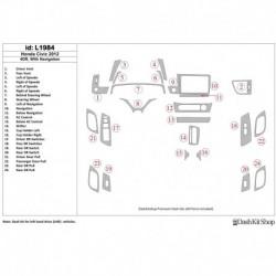 Накладки салона под дерево, карбон, алюминий для Honda Civic 2012-2012. Комплект L1984.