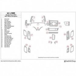 Накладки салона под дерево, карбон, алюминий для Honda Civic 2012-2012. Комплект L1985.