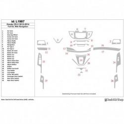 Накладки салона под дерево, карбон, алюминий для Honda CR-V 2012-UP. Комплект L1987.