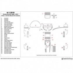 Накладки салона под дерево, карбон, алюминий для Honda Accord 2008-2012. Комплект L2018.
