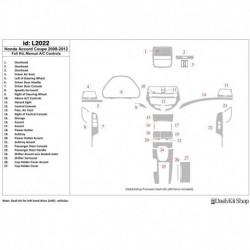 Накладки салона под дерево, карбон, алюминий для Honda Accord 2008-2012. Комплект L2022.
