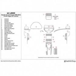 Накладки салона под дерево, карбон, алюминий для Honda Accord 2008-2012. Комплект L2023.