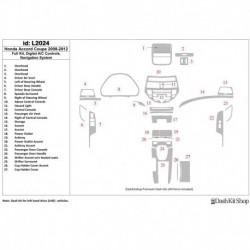 Накладки салона под дерево, карбон, алюминий для Honda Accord 2008-2012. Комплект L2024.