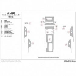 Накладки салона под дерево, карбон, алюминий для Honda Accord 2013-UP. Комплект L2025.