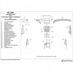 Накладки салона под дерево, карбон, алюминий для Hyundai Sonata 2011-UP. Комплект L791.