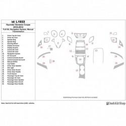 Накладки салона под дерево, карбон, алюминий для Hyundai Genesis Coupe 2010-2012. Комплект L1933.