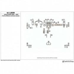 Накладки салона под дерево, карбон, алюминий для Infiniti QX56 2004-2007. Комплект L2028.