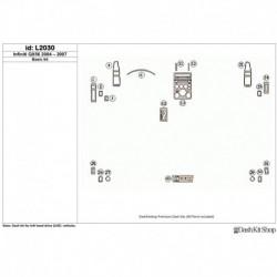 Накладки салона под дерево, карбон, алюминий для Infiniti QX56 2004-2007. Комплект L2030.