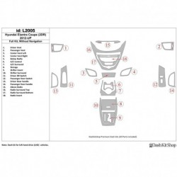 Накладки салона под дерево, карбон, алюминий для Hyundai Elantra Coupe 2012-UP. Комплект L2005.