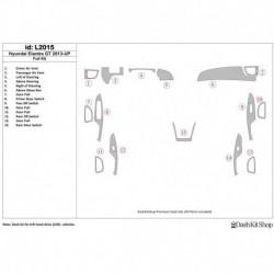 Накладки салона под дерево, карбон, алюминий для Hyundai Elantra GT 2013-UP. Комплект L2015.