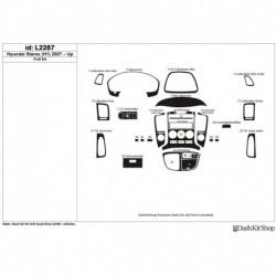 Накладки салона под дерево, карбон, алюминий для Hyundai Starex (H1) 2007-UP. Комплект L2287.