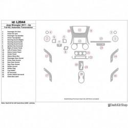 Накладки салона под дерево, карбон, алюминий для Jeep Wrangler 2011-UP. Комплект L2044.