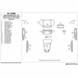 Накладки салона под дерево, карбон, алюминий для Jeep Cherokee 2014-UP. Комплект L2046.