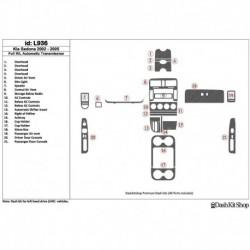 Накладки салона под дерево, карбон, алюминий для Kia Sedona 2002-2005. Комплект L936.