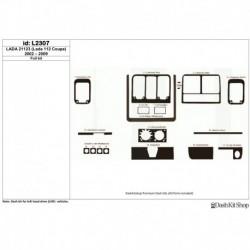 Накладки салона под дерево, карбон, алюминий для LADA 21123 (Lada 112 Coupe) 2002-2009. Комплект L2307.
