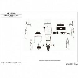 Накладки салона под дерево, карбон, алюминий для LADA 2114 2001-2013. Комплект L2309.