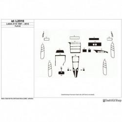 Накладки салона под дерево, карбон, алюминий для LADA 2115 1997-2012. Комплект L2310.