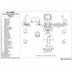 Накладки салона под дерево, карбон, алюминий для Land Rover LR2 2008-UP. Комплект L1040.