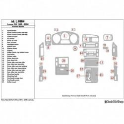 Накладки салона под дерево, карбон, алюминий для Lexus GS 1998-2000. Комплект L1064.