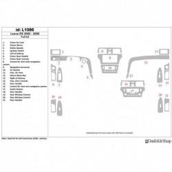 Накладки салона под дерево, карбон, алюминий для Lexus ES 2002-2006. Комплект L1086.