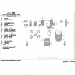 Накладки салона под дерево, карбон, алюминий для Lincoln Navigator 2000-2002. Комплект L1004.
