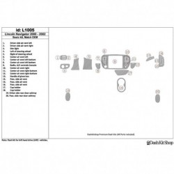 Накладки салона под дерево, карбон, алюминий для Lincoln Navigator 2000-2002. Комплект L1005.