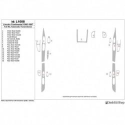 Накладки салона под дерево, карбон, алюминий для Lincoln Continental 1995-1997. Комплект L1008.