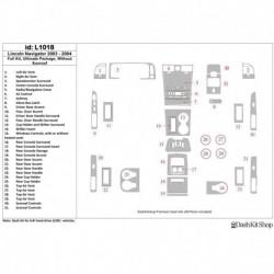Накладки салона под дерево, карбон, алюминий для Lincoln Navigator 2003-2004. Комплект L1018.