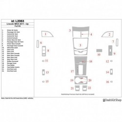 Накладки салона под дерево, карбон, алюминий для Lincoln MKX 2011-UP. Комплект L2063.
