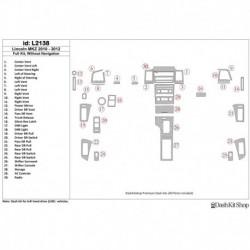 Накладки салона под дерево, карбон, алюминий для Lincoln MKZ 2010-2012. Комплект L2138.