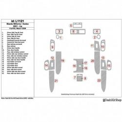 Накладки салона под дерево, карбон, алюминий для Mazda Milenia 2001-UP. Комплект L1121.