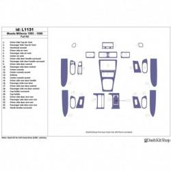 Накладки салона под дерево, карбон, алюминий для Mazda Millenia 1995-1996. Комплект L1131.