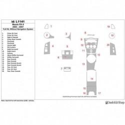 Накладки салона под дерево, карбон, алюминий для Mazda RX-8 2003-2007. Комплект L1141.