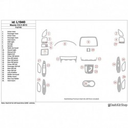 Накладки салона под дерево, карбон, алюминий для Mazda CX5 2013-2013. Комплект L1940.