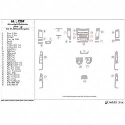 Накладки салона под дерево, карбон, алюминий для Mitsubishi Outlander 2008-UP. Комплект L1267.