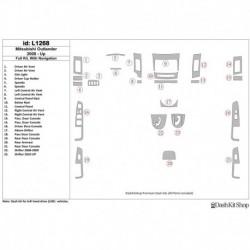 Накладки салона под дерево, карбон, алюминий для Mitsubishi Outlander 2008-UP. Комплект L1268.