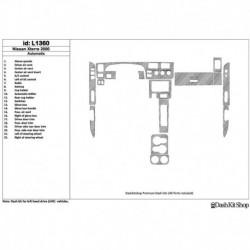 Накладки салона под дерево, карбон, алюминий для Nissan Xterra 2000-2000. Комплект L1360.
