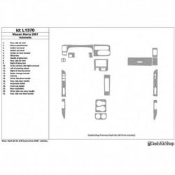 Накладки салона под дерево, карбон, алюминий для Nissan Xterra 2001-2001. Комплект L1370.