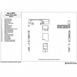 Накладки салона под дерево, карбон, алюминий для Nissan Xterra 2001-2001. Комплект L1371.