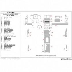 Накладки салона под дерево, карбон, алюминий для Nissan Altima 2003-2004. Комплект L1380.
