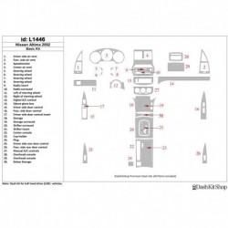 Накладки салона под дерево, карбон, алюминий для Nissan Altima 2002-2002. Комплект L1446.