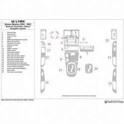 Накладки салона под дерево, карбон, алюминий для Nissan Maxima 2002-2003. Комплект L1454.