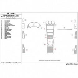 Накладки салона под дерево, карбон, алюминий для Nissan Altima 2007-2012. Комплект L1943.