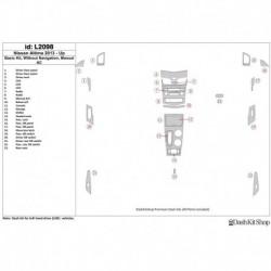 Накладки салона под дерево, карбон, алюминий для Nissan Altima 2013-UP. Комплект L2098.